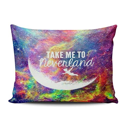 (Nifdhkw Take Me to Neverland Personalized Kissencases Romantic Colorful Decorative Kissen Case Cover 20x30 Inches Kissencase One Sided)