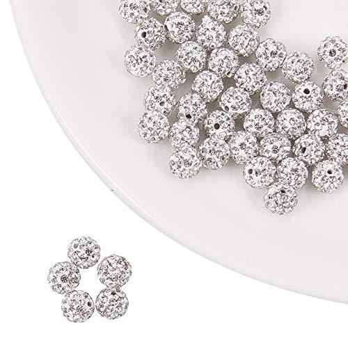 nbeads 50 stücke 6mm Grad A Polymer Clay Pave Disco Ball Strass Kristall Shamballa Perlen Schmuck Charms zu Machen