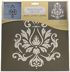 Deco Art Americana Decor Stencil x 12-inch-Brocade Motif, None, Extra Large, One Size