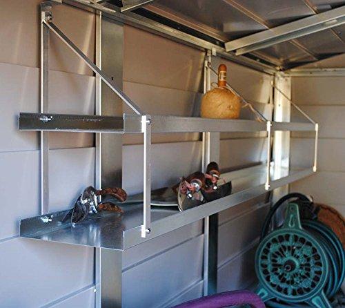 Trimetals Stahl-Regal und Metallgerätehaus-Regal für Gerätehaus Titan // 175x20 cm (BxT)