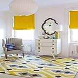 GRENSS Im europäischen Stil geometrische Teppich groß Home Matte Nordic brife Wohnzimmer Teppich 7 mm dicker Palor Teppiche Kunst Dekor, Gelb Grau Schwarz, 1600 mm x 2300 mm