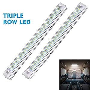 DSstyles 2 Stück DC 12 V 6 W 108 LEDs Innenbeleuchtung Lampe Nachtlicht für Auto Schlafzimmer Küche Schrank