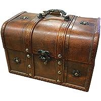 Preisvergleich für Truhe/Truhe aus Holz, Vintage, Vintage-Stil, mit Aufbewahrungsbox