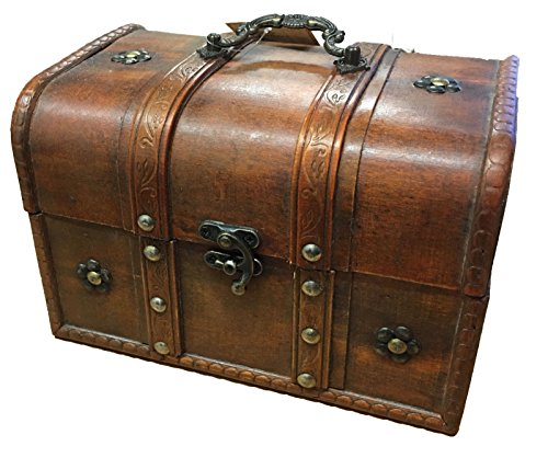Generic * ST STOR cofanetti in legno vintage in legno vintage in legno scatola di stoccaggio est petto scatola e torace box