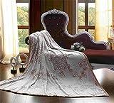 AIKE Autunno Inverno Spessore Stampato Flannel Coperta Nap Blanket Throw Divano Letto Soggiorno Camera da letto, camel, 200x230cm