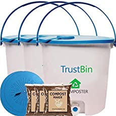 Trust Basket Trustbin - Indoor Compost bin for Converting All Kinds of Kitchen Food Waste into Fertilizer