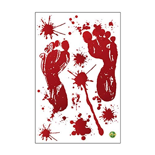 Unitedheart Tattoo Sticker,Horror Realistic Blood Injury Scar Wound Stickers Fake Tattoos Costume Makeup Halloween Decorations Festival Party Props