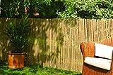 Robuster Sichtschutz Zaun Bambus CALAMA extra gehärtet von DE-Commerce I
