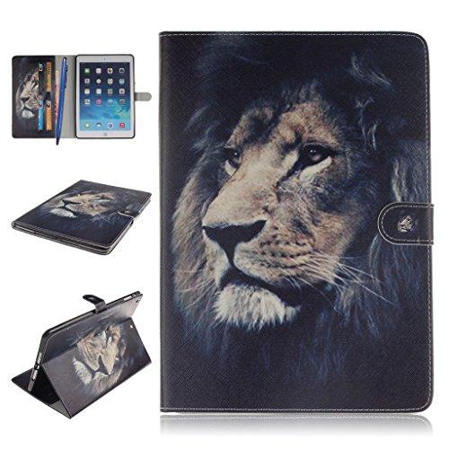 iPad Mini 1/2/3 Funda,Careynoce Atrapasueños León Tigre Pattern Flip PU Cuero Carcasas Funda Case Cover para Apple iPad Mini 1 iPad Mini 2 iPad Mini 3 (7.9 pulgada) - León