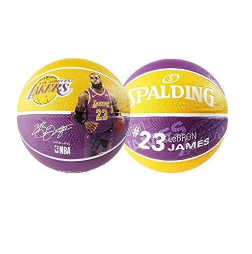 Spalding NBA Player Ball Basketball (7, Lebron James) - Lebron James Nba