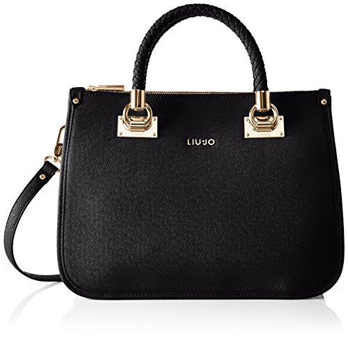 LIU JO ANNA SHOPPING BAG N66085E0087-22222 Black