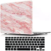 Macbook Air 13 inch Cover Case,DIGIC Plastic Hard Estuche portátil para Apple with Keyboard Cover for MacBook Air 13.3 inch Model A1369/A1466,Red marble