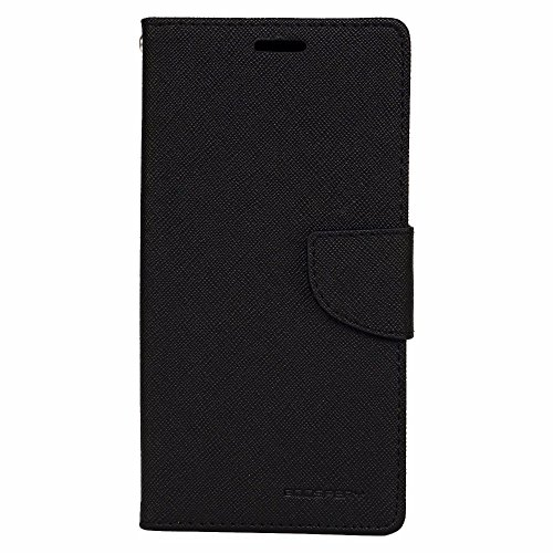 Avzax Premium Leather Flip Case Cover with Magnetic Closure for HTC Desire 816G Dual Sim (Black)