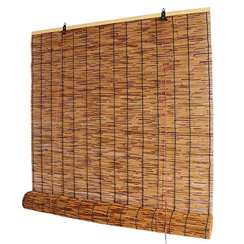 Verdunkelungsvorhang- Bambus Vorhang, Reed Vorhang, Holz Vorhang, jalousien, Vorhang vorhänge, schimmel, regendicht, staubdicht, Indoor und Outdoor, Multi-größe ✔ (Reed Jalousien)