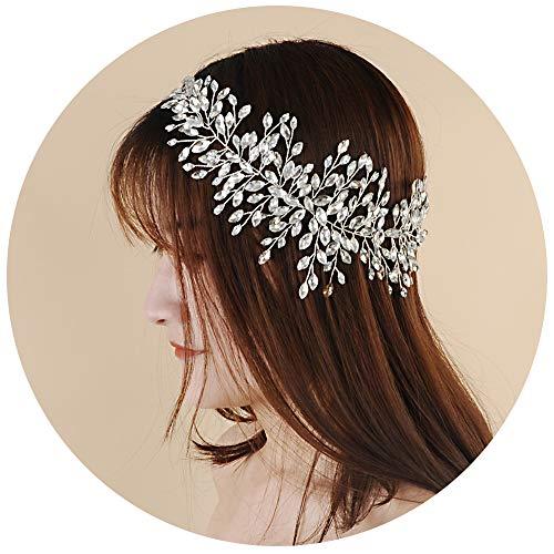 ULAPAN Crystal Bridal Hair Vine Silber Strass Stirnband Hochzeit Haarschmuck Braut Kopfschmuck für Braut und Brautjungfern (HP237-3-15-1)