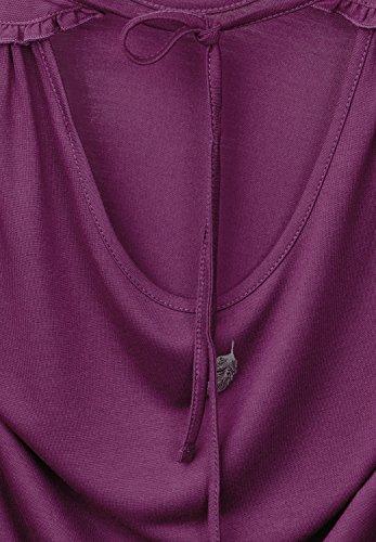 Street One Damen Top mit Schleife im Nacken sunny violet (lila)