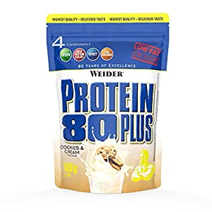 WEIDER Protein 80 Plus Eiweißpulver, Cookies & Cream, Low-Carb,...