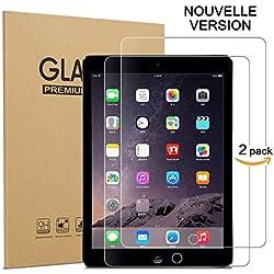 ZEBLUN Verre Trempé iPad 2017/2018, Juillet 2018 Nouvelle Version, Film Protection Ecran iPad Air 2/1, iPad Pro 9.7, Screen Protector pour Nouveau Apple iPad 9.7 Pouces, Protecteur d'Écran, Lot de 2