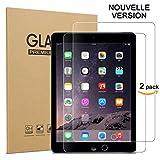 ZEBLUN Verre Trempé iPad 2017/2018, Juillet 2018 Nouvelle Version, Film Protection Ecran iPad Air...