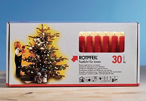 Innen-Lichterkette Weihnachtskette 30-teile rot