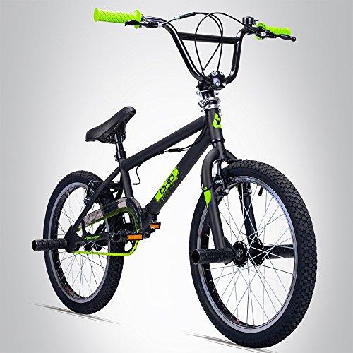 Bergsteiger Ohio 20 Zoll BMX, 360° Rotor-System, Freestyle, 4 Stahl Pegs, Kettenschutz, Freilauf - Bike Zoll 20 Bmx
