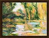 Claude Monet Stampa D'Arte e Cornice (MDF) Venatura Di Legno - Stagno Di Ninfee, Il Ponte, 1899 (80 x 60cm)