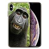 Stuff4 Coque de Coque pour Apple iPhone XS Max/Selfie Babouin Design/Animal Drôle...
