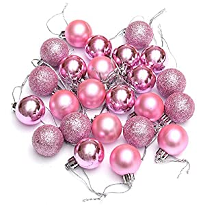 Toogoo, set di 24 palle di natale in vari colori