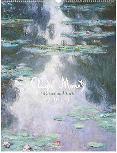 Claude Monet 2019, Wandkalender im Hochformat (50x66 cm) - Kunstkalender (Impressionismus) mit Monatskalendarium