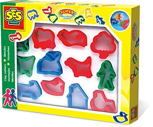 Ses-creative- hobby e creatività plastilina bimbi piccoli formine in scatola, multicolore, 884