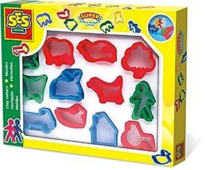 SES Creative Cortadores de plastilina (Paquete de 12), Multicolor (00884)