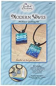 ornés de piquants Créations Papier pour Quilling Kit moderne vagues collier