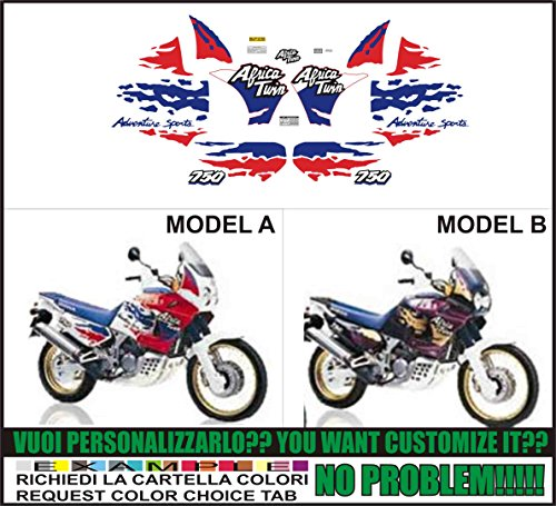 Kit adesivi decal stikers HONDA XRV AFRICA TWIN RD 07 750 1994 (ability to customize the colors)