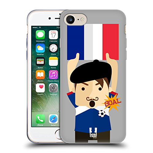 Head Case Designs Nigeria Viva Il Calcio Cover Morbida In Gel Per Apple iPhone 7 / iPhone 8 Francia