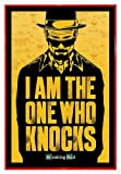 Close Up Breaking Bad Poster I am The one who Knocks (94x63,5 cm) gerahmt in: Rahmen rot
