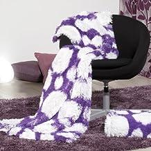 Sancarlos - PLAID BISMARK MORADO - Plaid para sofá o cama - 130x160 cm - Lila