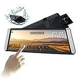 Auto-Vox X1 DashCam Spiegel mit AHD Backup-Kamera-Kit, StreamingMedia 9,88Full TouchScreen,AutoKamera 1296P FHD Frontkamera und 720P Rückfahrkamera mit Crystal Bildqualität,WDR, LDWS, GPS Modus