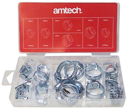 Amtech S6290 Assorted Hose Clamp, 26-Piece