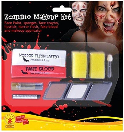Ausgefallenes Halloween Horror Thema Party Spezialeffekt Unheimliche Gesicht & Eye Make-up Kit - Zombie Damen, One (Zombie Eye Kit)