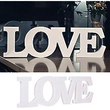 """iShine Letras de Madera- Letras Alfabeto de """"LOVE"""" para Decoración Regalo de Boda Letras de Madera"""