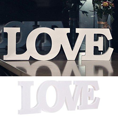 iShine Holz Holzbuchstaben LOVE Hochzeit Deko Holzbuchstaben Tischdeko