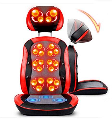 AMYMGLL Multi-función de masaje silla eléctrica 3D bola de masaje de amasamiento terapia infrarroja ajuste sin calefacción tratamiento con imanes para la parte (piernas, glúteos, cintura, espalda, cuello)