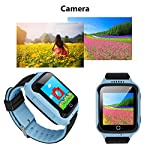 Yongkaida Smart Watch Kids Smartwatch GPS Tracker SOS Call Anti Lost Finder Remote Monitor SIM Card Touch Screen Camera Flashlight For Android And IOS Y22 Blue