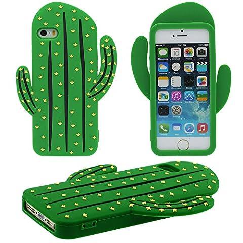 iPhone 5 5S Coque Protection Case, Original 3D Cactus Désign