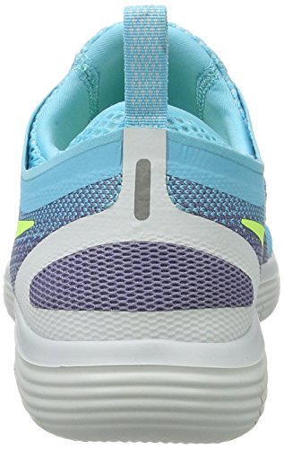 Nike Women's Free Rn Distance 2 Running, Scarpe Sportive Indoor Donna Blu (Polarized Blue/volt/iron Purple/purple Earth)