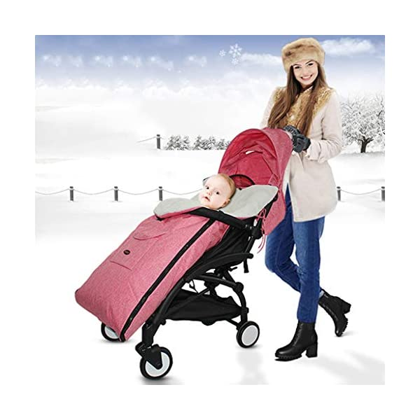 DENGHENG Baby Sleeping Bag Infant Winter Stroller Thick Warm Envelope Sleepsacks Footmuff DENGHENG ❤ Stroller Sleep Bag, Softly padded with warm fleece lining and extra quilting. ❤ 2 in 1 - Removable front unzips, easily converting to a comfy Seat liner ❤ Can Also be used as a Padded Pushchair or Buggy Liner- ideal for the summer months 5