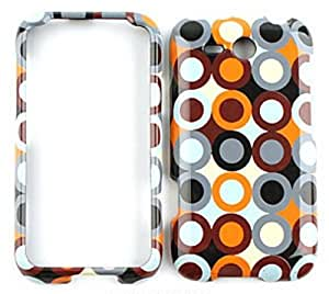HTC Freestyle Multi-Color Circles and Dots in Rows Snap On Cover, Hard Plastic Case, Face cover, Protector