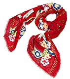 Foulard da donna Desigual casual in poliestere mod. RECTANGLE WHITE BIRD