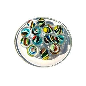 1 Bille d'Art en verre - Réalisée en verre de Bohême - 20 mm de diamétre.