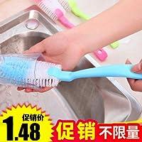 Muebles Necesidades diarias WWYXHQC Mango largo paño de cocina con un cepillo ultra-fuerte desengrasado